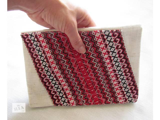 купить бу Жіночий м'який клатч / сумочка з малюнком в українському стилі в Києві
