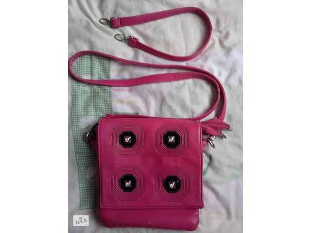 Женский розовый квадратный клатч  сумка смотрите- объявление о продаже  в Новой Одессе