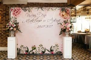 банер для фотозони, запрошення на весілля, візитки, листівки