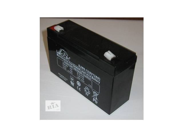 купить бу Батарея аккумуляторная Leoch DJW 6_ 12В_ 7Ач к ехолоту, детскому электромобилю. в Киеве