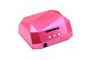 Гибридная сенсорная лампа Diamond Led+Ccfl для маникюра 36Вт Pink (bks_01958)