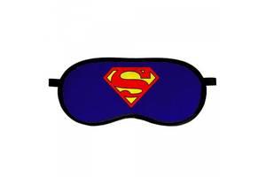 "Маска для сна Presentville ""Супермен!"", 18,5х8,5 см., синий"