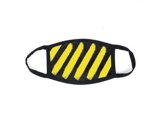 продам Маска мужская | женская защитная многоразовая тканевая Off-White yellow бу в Харькове