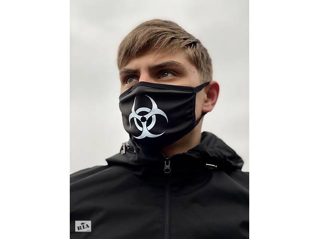 Маска мужская | женская защитная многоразовая  тканевая VIRUS-COBRA x black- объявление о продаже  в Харькове
