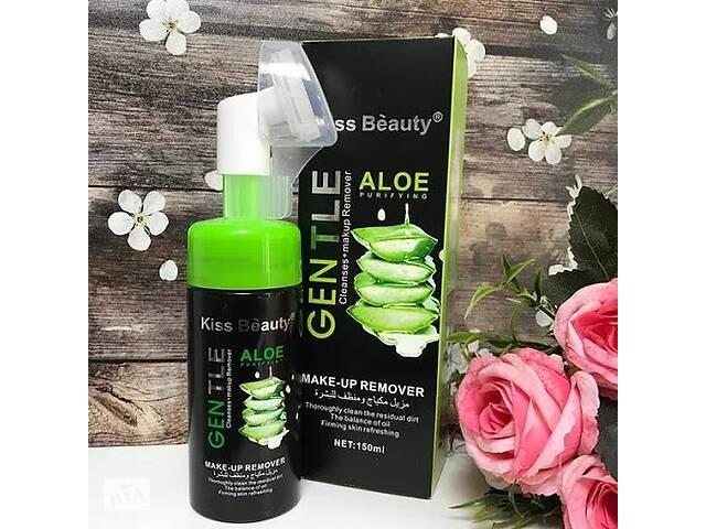 бу Пенка для умывания успокаивающая и очищающая Gentle Kiss Beauty Aloe со щеточкой 150 мл SKL11-276531 в Харькове