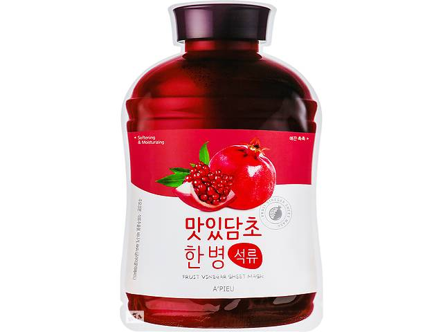 продам Тканевая маска Гранат A pieu Fruit Vinegar Sheet Mask Pomegranate, 20 г бу в Києві