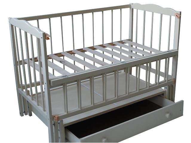 продам Белая кроватка-маятник \ Бесплатная Доставка бу в Тернополе