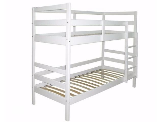 продам Белая кровать двухъярусная из натурального дерева. Кровать бу в Киеве