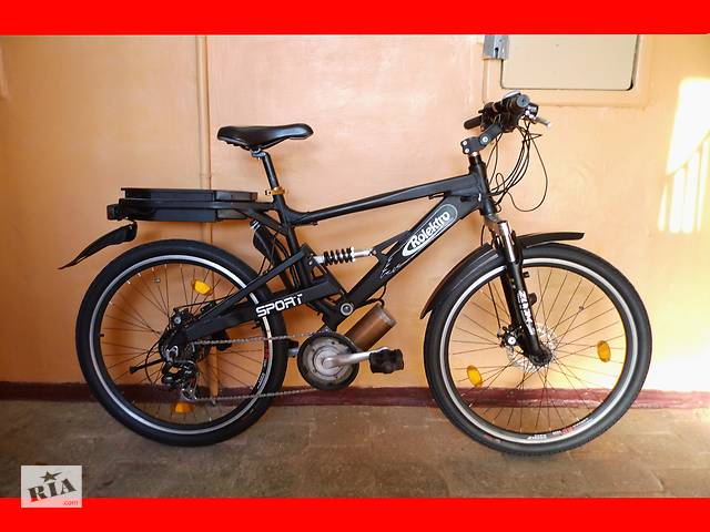 """продам Электро-велосипед електро-велосипед горный двухподвес 26"""" бу в Полтаві"""