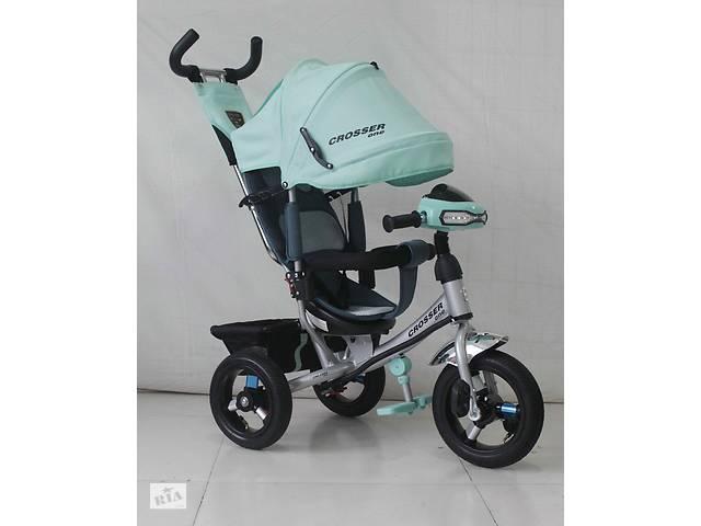 купить бу Трехколесный велосипед Azimut Crosser One T1 AIR 2016 бирюзовый*** в Одесі