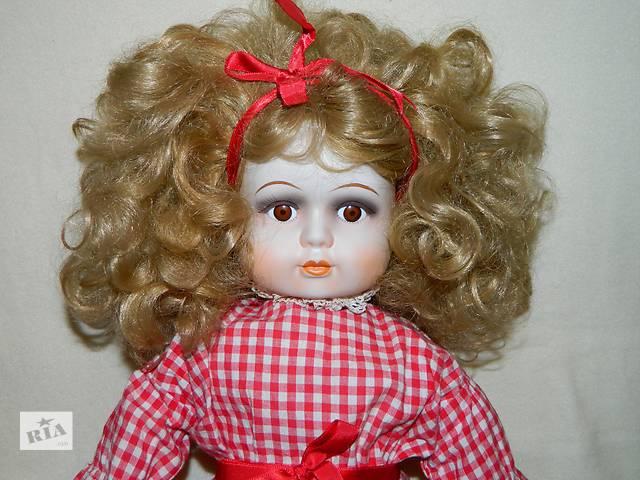 купить бу Большая Винтажная Интерьерная Фарфоровая Кукла в Тернополе