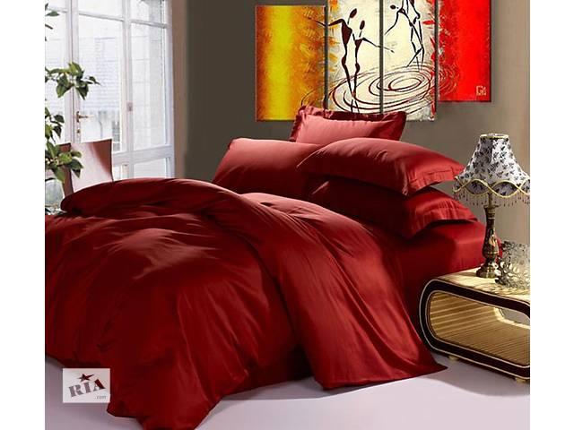 Бордо (красное вино) Гладкоокрашенный сатин,100% хлопок- объявление о продаже  в Харькове