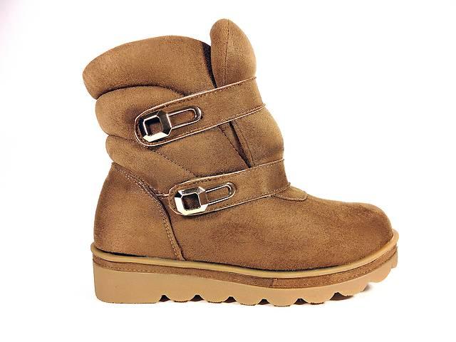 Ботинки женские, зимние, замшевые, коричневые, на липучках. Размер 36-41.- объявление о продаже  в Хмельницком