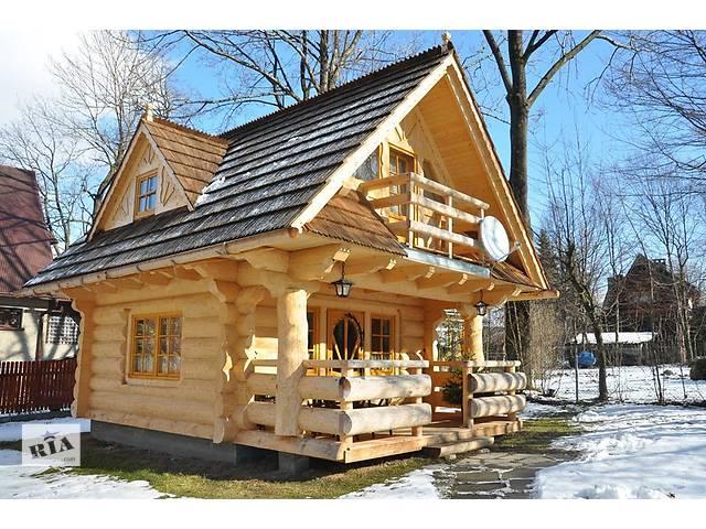 купить бу Строительство домов, бань из дикого сруба под ключ  в Украине