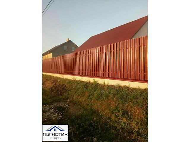 купить бу Штакетник штахетник штафет металлический  глянец двухсторонний Корея 0,45 забор,ворота,паркан в Виннице