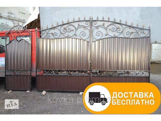 Распашные ворота и калитка с коваными элементами, код: Р-0127- объявление о продаже  в Ладыжине