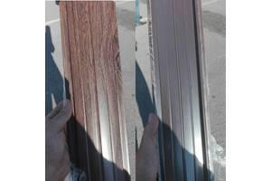 Темное дерево  Штакетник металлический двухсторонний (евроштакетник))