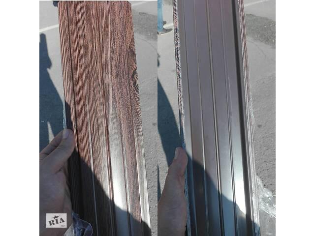 бу Темне дерево Паркан металевий двосторонній (евроштакетнік) в Вінниці