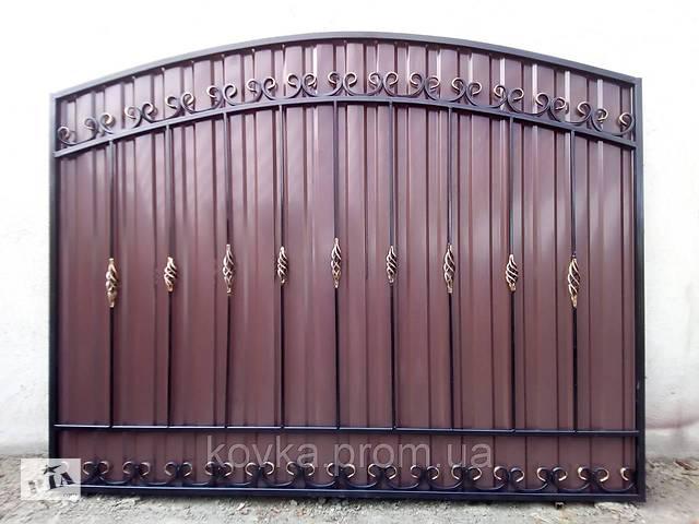 купить бу Секция забор с коваными элементами и профнастилом, код: А-0118 в Ладыжине