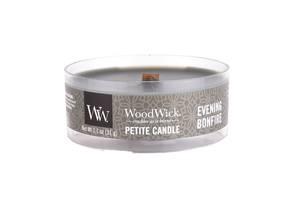 Ароматическая свеча Woodwick Petite Evening Bonfire Коричневый (66488E)