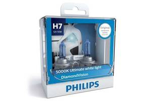 Автолампа PHILIPS H7 Diamond Vision, 5000K, 2шт (12972DVS2)