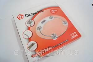 Електронні підлогові ваги круглі Domotec до 180 кг
