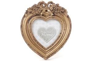 Фоторамка настільна Tudor Бароко Серце для фото 7.5х7.5см (psg_BD-493-719)