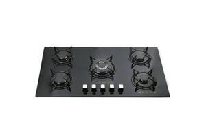 Газова плита на 5 конфорок Lexical LGS-2805 з електророзпалом Чорна (par_LGS 2805)