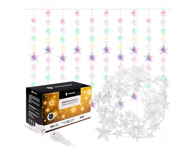 бу Гирлянда бахрома уличная (наружная) Springos 2 м 180 LED CL4005 Mix в Львове