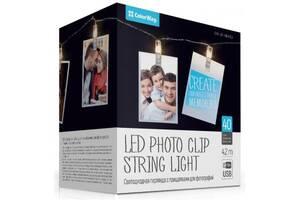 Гирлянда ColorWay Светодиодная с прищепками для фото 40 LED/4.2M USB (CW-LCP-40L42BU)