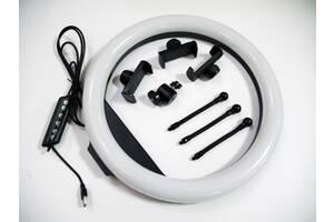 Кольцевая LED лампа RGB MJ36 36см 3 крепл.тел USB