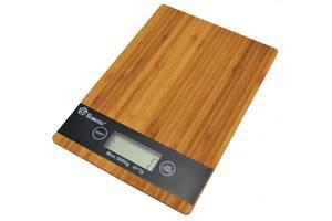 Кухонные сенсорные весы Domotec Ms-a до 5кг (платформа из дерева) (bks_01808)