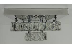 Люстра потолочная хрустальная Led с пультом C1787/350350-ch Хром 18х33х33 см.
