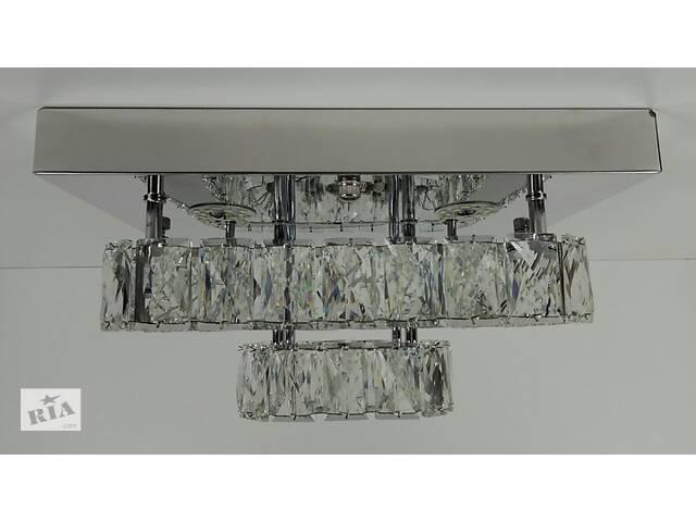 купить бу Люстра потолочная хрустальная Led с пультом C1787/350350-ch Хром 18х33х33 см. в Одессе