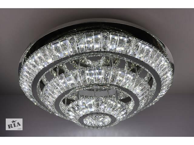 Люстра потолочная хрустальная Led с пультом C1864/800-ch Хром 24х80х80 см.- объявление о продаже  в Одессе