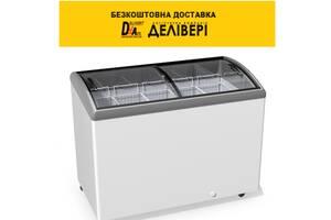 Морозильна скриня JUKA M400 S, гнуте скло, підсвічування