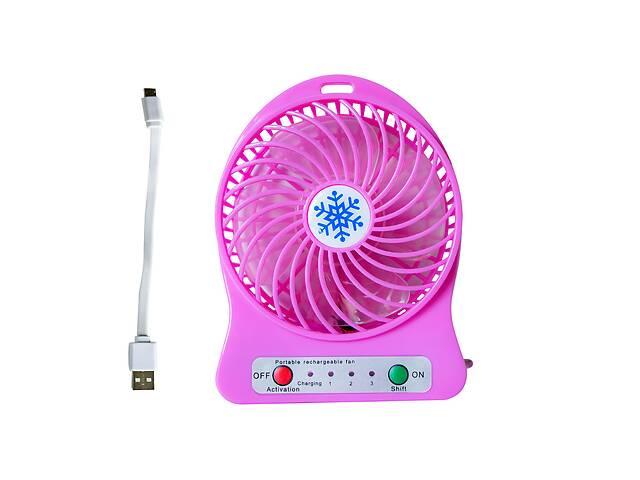 купить бу Портативный аккумуляторный настольный мини вентилятор ручной USB мини вентилятор на батарейках в Харкові