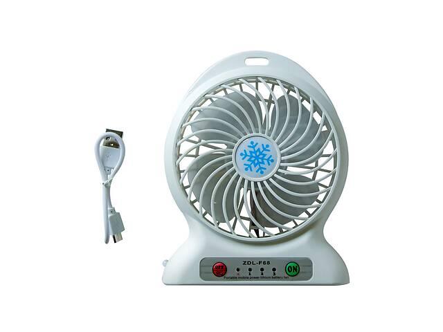 продам Портативный аккумуляторный настольный мини вентилятор ручной USB мини вентилятор на батарейках бу в Харкові