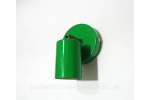 Настенный светильник, спот поворотный, потолочная лампа, на одну лампу, зеленый цвет