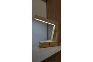 Настольная светодиодная LED лампа деревянная. Ручная работа