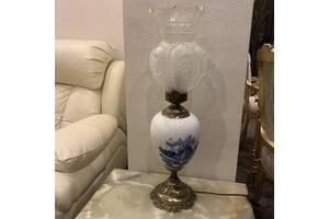 Настольная старинная винтажная лампа