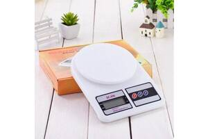Настольные кухонные электронные весы для взвешивания продуктов SF-400 с дисплеем для дома до 10кг