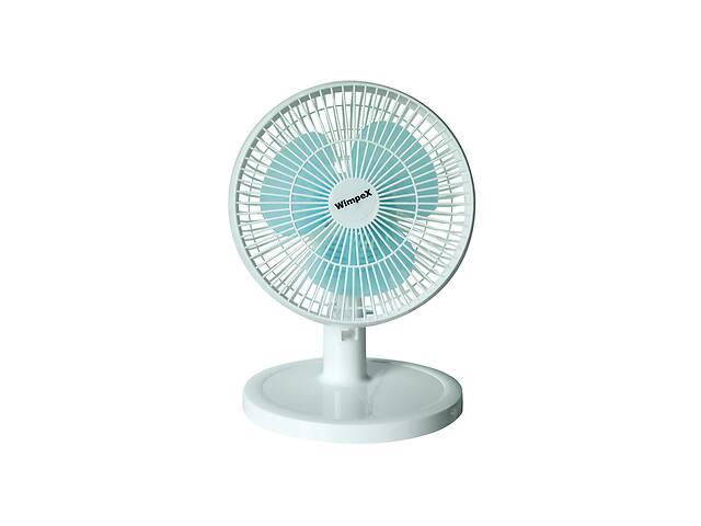 купить бу Настольный вентилятор Wimpex Бело-голубой в Харькове