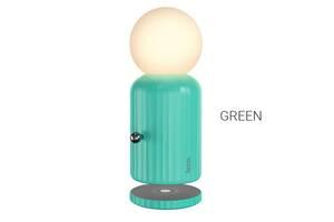 Нічник/Настільна нічна лампа Hoco H8 Jewel з беспровідною зарядкою Green