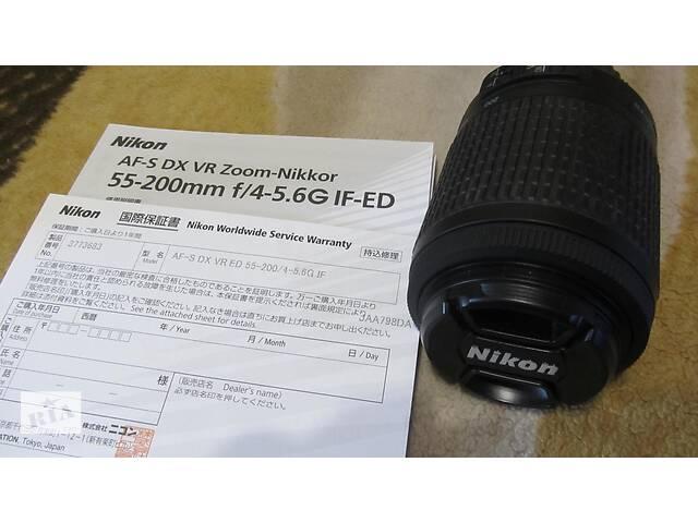 бу Об'єктив NIKON AF-S DX VR Zoom-NIKKOR 55-200mm F 4-5,6 G ED IF-ED! Суми!  в Україні