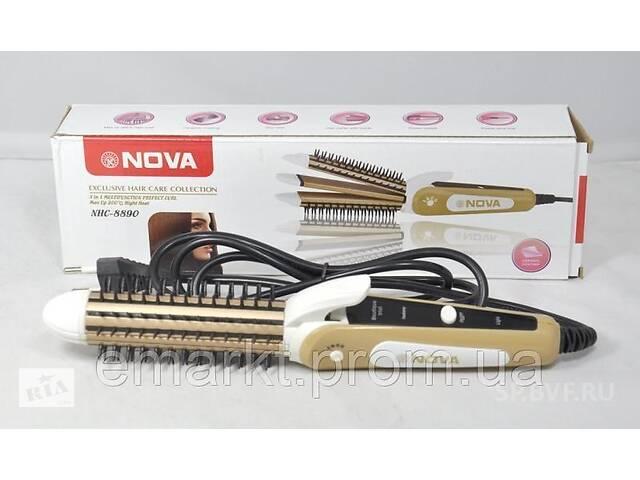 продам Плойка-утюжок-гофре с расческой для волос Nova NHC-8890 3в1 бу в Одессе