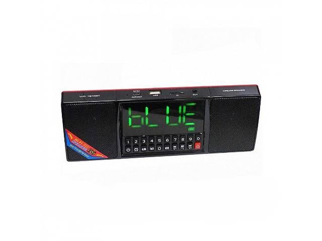 бу Портативная Bluetooth колонка Kronos WS-1515 BT Часы USB Радио Черная (par_ws-1515bt) в Киеве