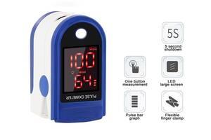 Портативный пульсоксиметр на палец для измерения сатурации кислорода и частоты пульса Mox01