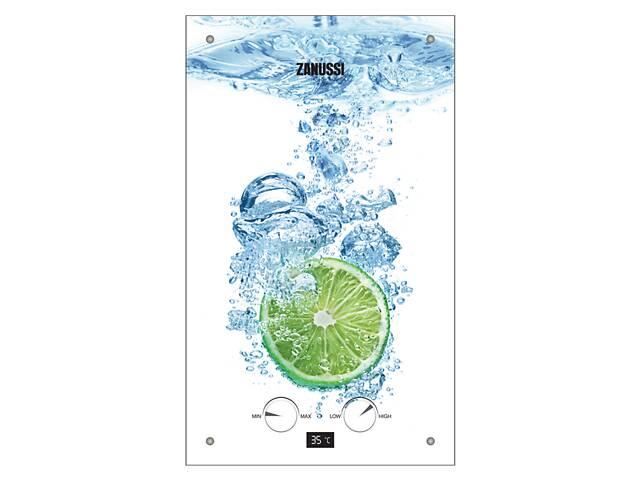 бу Проточный газовый водонагреватель Zanussi GWH 10 Fonte Glass Lime в Киеве
