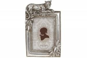 Рамка для фото прямоугольная Леопард, 24см, цвет - стальной, размер фото - 10х15см SKL11-276262